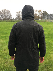 Breathable fleece lined raincoat